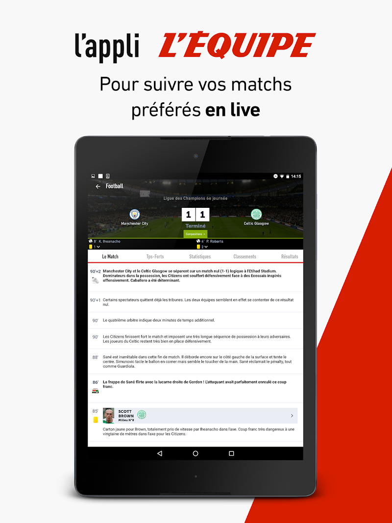 L'Équipe - Sport en direct : foot, tennis, rugby.. Screenshot 8