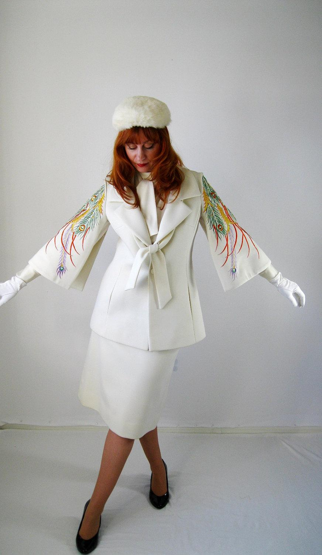 Sale-1960s Lilli Ann Cream