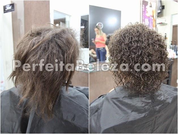 permanente afro antes e depois