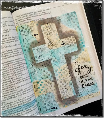 Bible Art Gal 6-14 Glory Only in the Cross