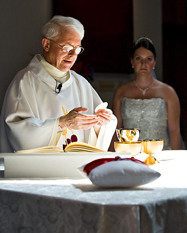catholic wedding program cover
