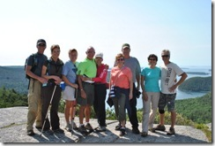 David, Sharon, Syl, Bill, Nancy, Darlene, Doug, Tricia and Dan on Acadia Mountain