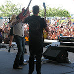 Tony and Chad helped out with guitar changes