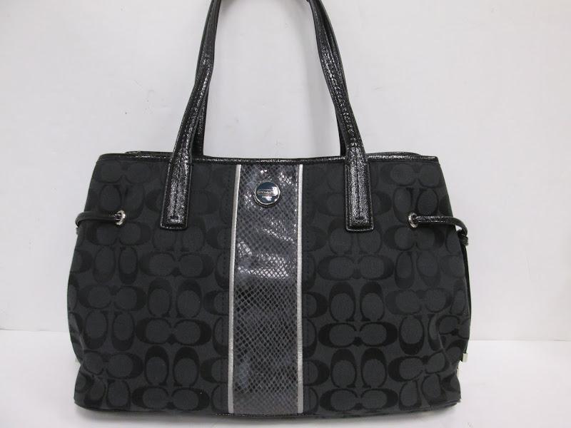 Coach Black Logo Shoulder Bag