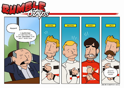 Рон Деннис выбирает пилотов McLaren на сезон 2014 - комикс Rumble Strips