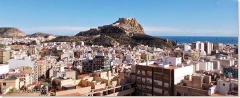 Panorámica de Alicante desde el Castillo de San Fernando