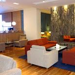 business lounge at Keflavik Airport in Reykjavik, Hofuoborgarsvaeoi, Iceland