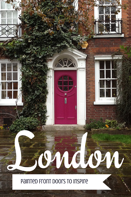 Painting Ideas : London Front Door Colors for Inspiration. Looking for painting ideas? About to pick a front door color? Be inspired by these doors found in London. From classic to bold, there is sure to be a color that suits you! #color #inspiration #London #FrontDoor #paintingideas