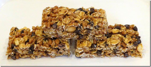Gluten Free No Bake Peanut Butter Chocolate Chip Granola Bars