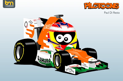 Пол ди Реста Force India VJM05 pilotoons 2012