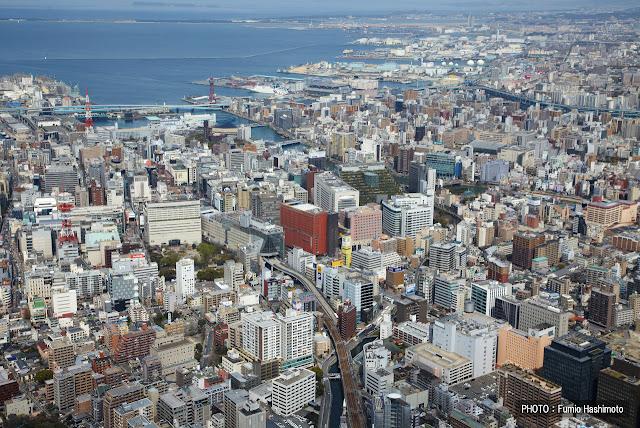 View of the northern section of Fukuoka's Hakata neighborhood