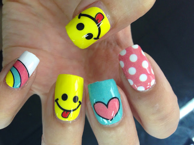Enchanting Emoji Biting Nails Embellishment - Nail Art Design Ideas ...