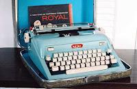 An old Royal portable typewriter