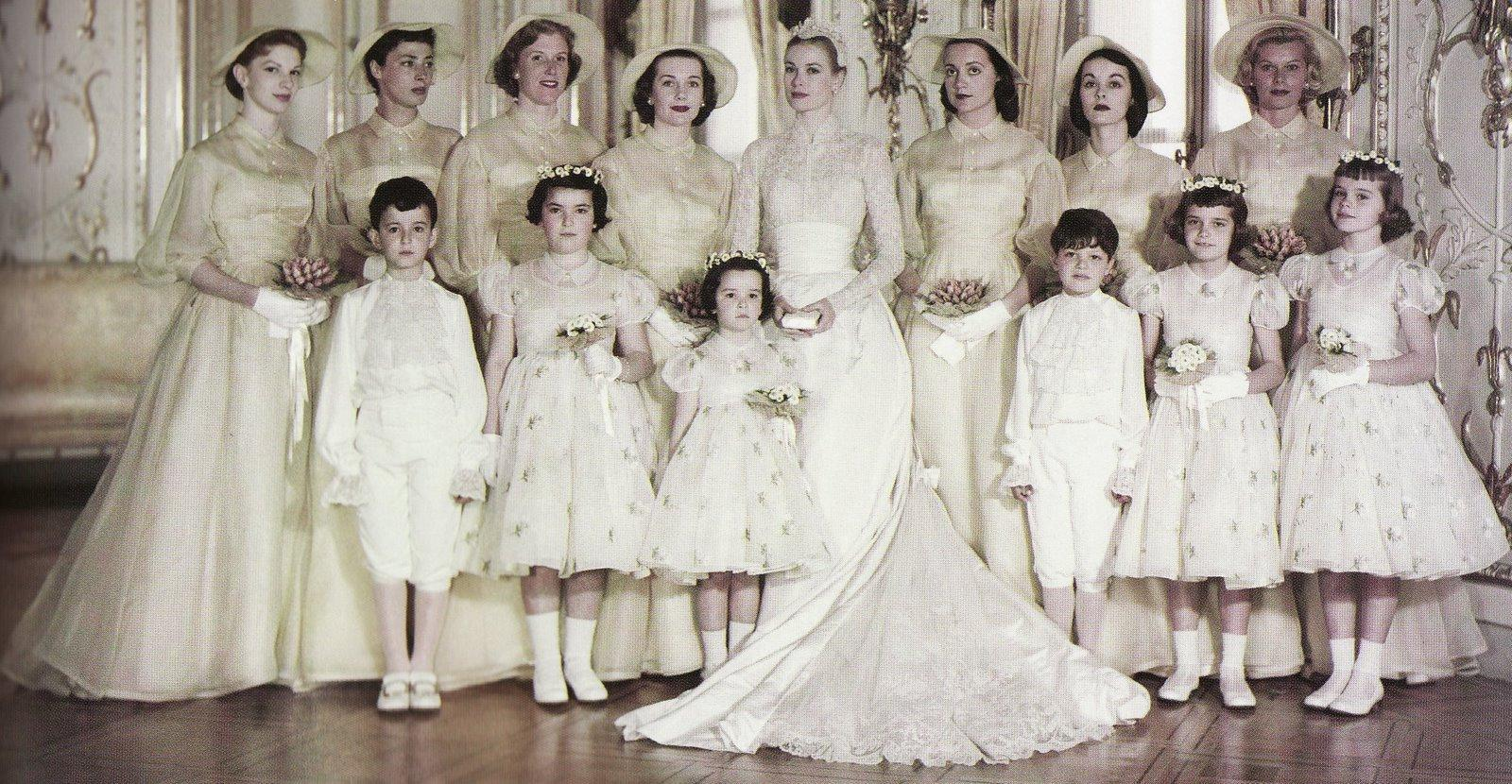 grace-kelly-bridal-party-