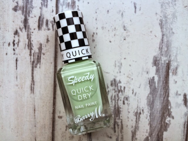 beauty-blog-nail-art-midweek-manicure-barry-m-speedy-quick-dry-nail-paint-fashion-pole-position-green-nails