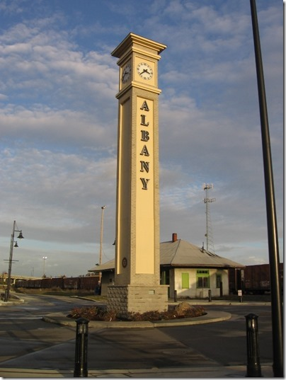 IMG_9513 Clock Tower at Depot in Albany, Oregon on December 4, 2007
