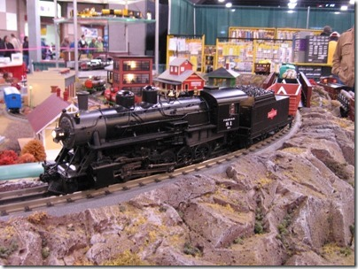 IMG_0702 O-Scale Pittsburgh, Shawmut & Northern 2-10-0 Decapod by MTH at the WGH Show in Puyallup, Washington on November 21, 2009