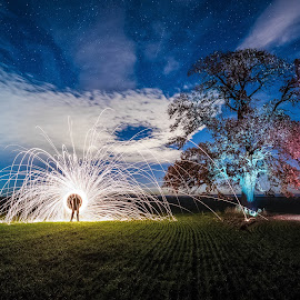 Fun with the Light by Alexandru George - Abstract Light Painting