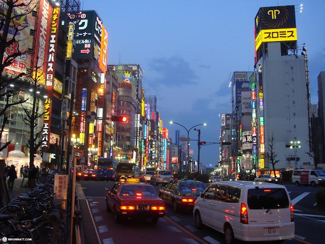 most amazing photo of Yasukuni Dori in Shinjuku, Tokyo, Japan