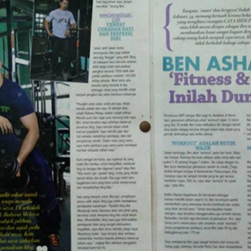 BEN ASHAARI : Fitness dan Blogging tak dapat dipisahkan !