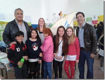 Funcionarios de Turismo visitaron la iniciativa de los estudiantes marajenses