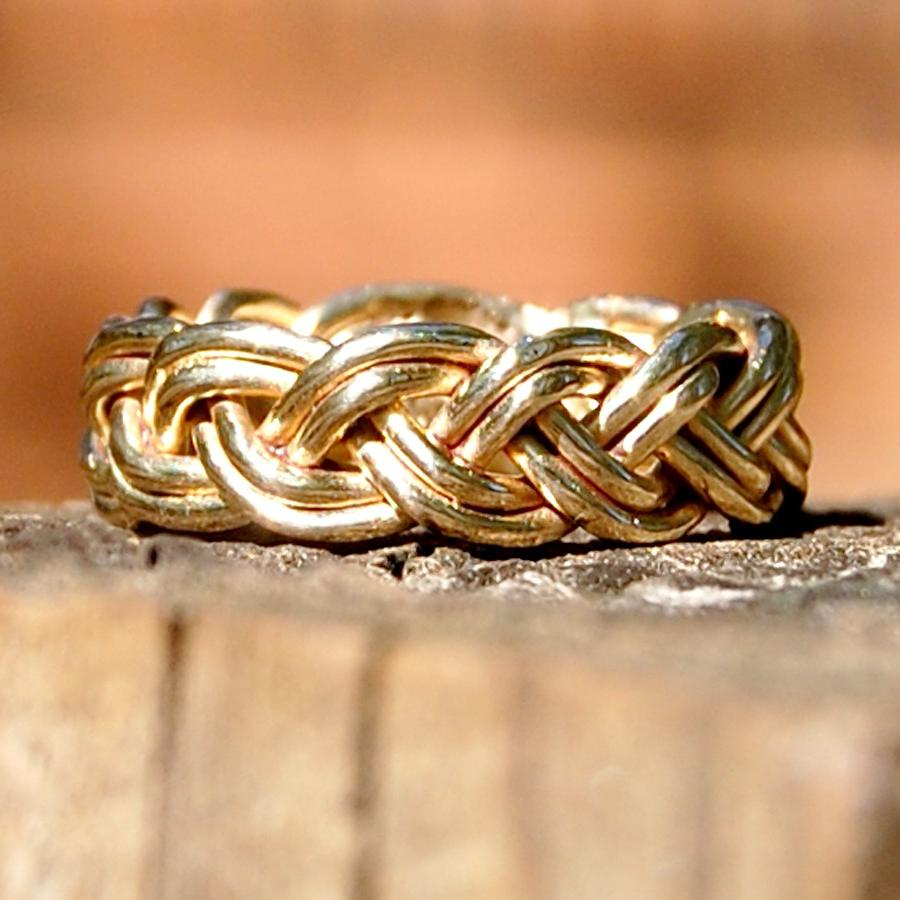 14 Karat Solid Gold Braided