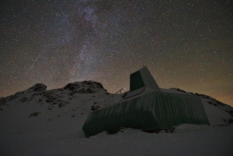 Una din stelele cazatoare vazut de la 2000 de metri.