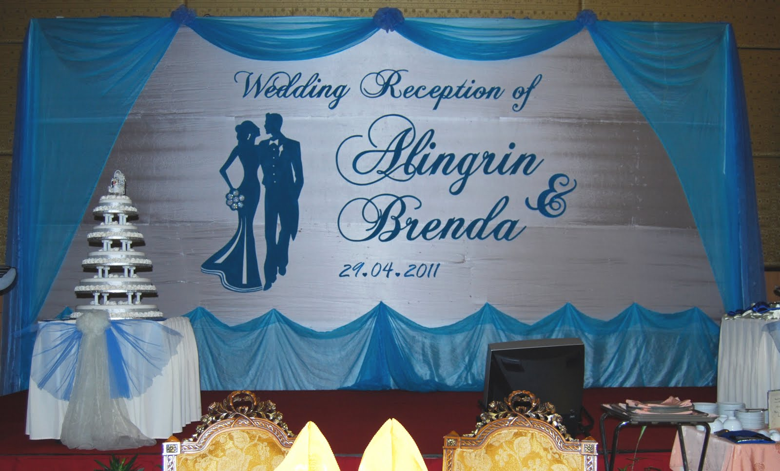 Wedding backdrop for Alingrin