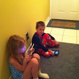 Kids hanging out in our condo in Destin FL 03232012