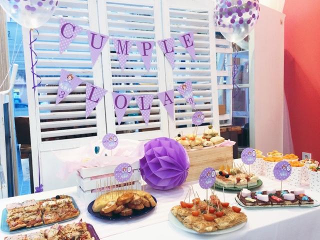 Decoración fiesta infantil Princesa Sofía