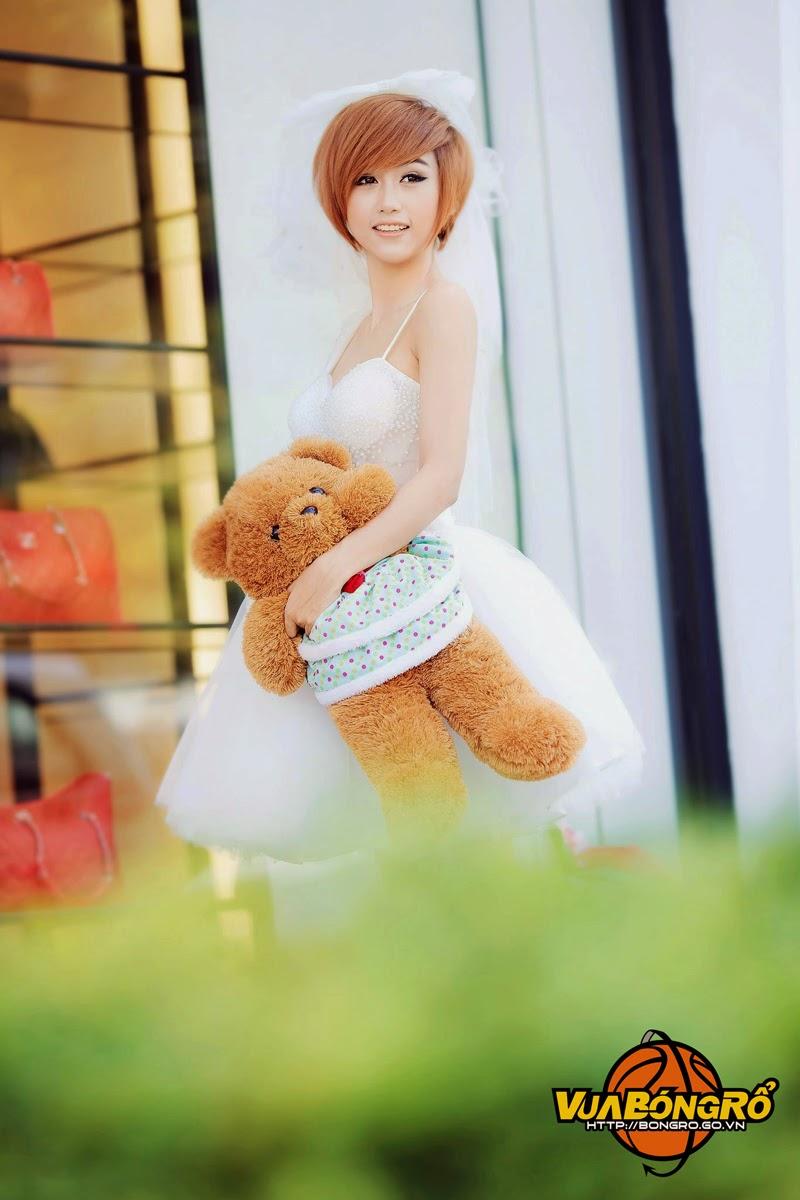 Vẻ đẹp dễ thương của Miss Bóng Rổ 2013 Quỳnh Nhi - Ảnh 4
