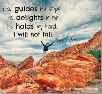 he delights in me