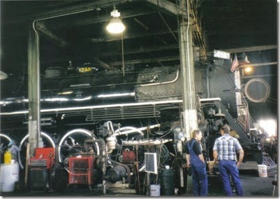 16 Spokane, Portland & Seattle A-1 Class 4-8-4 #700 at the Brooklyn Roundhouse in Portland, Oregon on August 25, 2002
