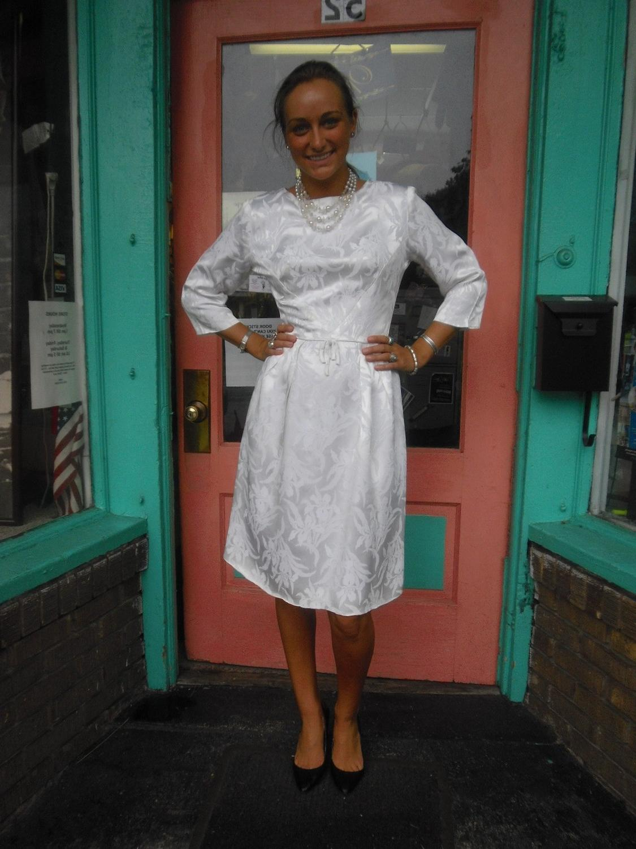Elegant 1950s Vintage Dress Informal Wedding Dress Worthy 36 bust FREE U S