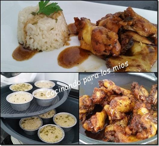 alitas de pollo con salsa de soja y guarnicion de arroz5
