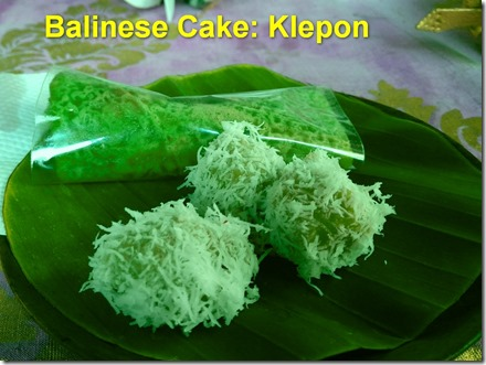 Balinese cake klepon