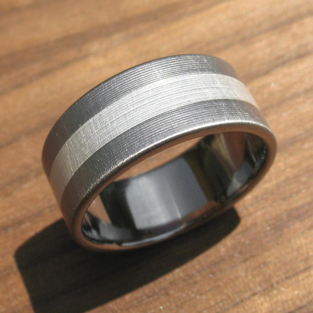 and Titanium Wedding Ring