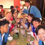 dining at the Awa Odori restaurant in Tokyo, Tokyo, Japan