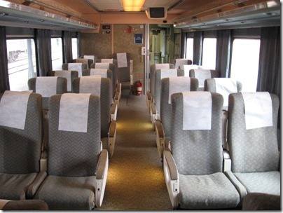 IMG_0702 Amtrak Cascades Talgo Pendular Series VI Coach Class Interior at Union Station in Portland, Oregon on May 10, 2008