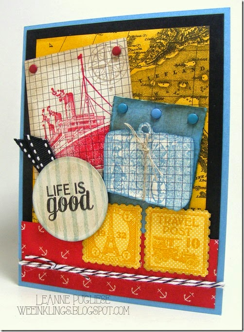 LeAnne Pugliese WeeInklings Paper Players 243 Traveler Postage Due Stampin Up