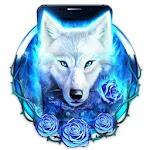 Blue Ice Wolf Theme Icon