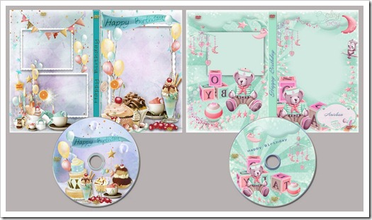 Happy Birthday DVD cover templates