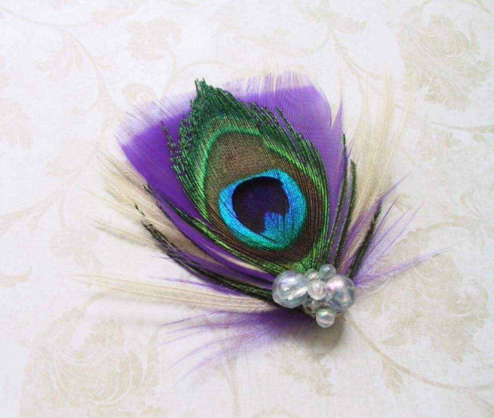 wedding with peacock feathers