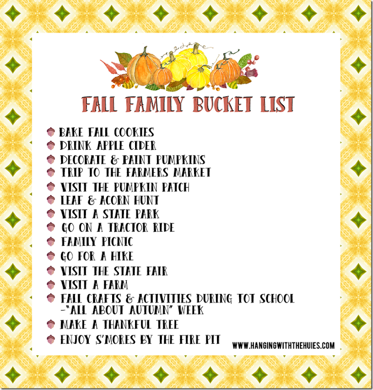 2015 Fall Family Bucket List 2