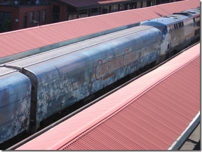 IMG_7640 Christmas Carol Train Car MRLX #801101 at Union Station in Portland, Oregon on July 1, 2009
