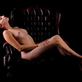 Reclining by DJ Cockburn - Nudes & Boudoir Artistic Nude ( chair, reclining, art nude, sitting, woman, naked, helen diaz, curves, shadows )