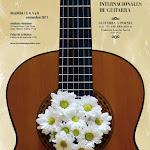 Cartel de las IX Jornadas Internacionales de Guitarra de Valencia. José Olid, diseño del cartel y programa de mano