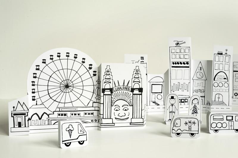 Как сделать городок из бумаги своими руками схемы