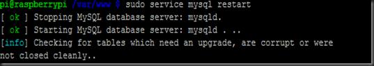 sudo service mysql restart
