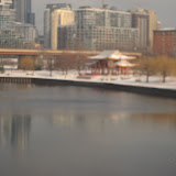 The Chicago skyline seen from the Amtrak window 01142012j